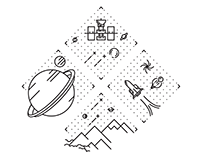 space Illustration [laser cut]