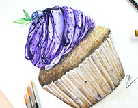 Watercolor illustartions for Cupcake