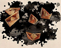Origami. Graphics.