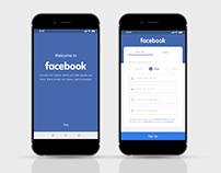 Facebook Onboarding & Signup/Login UI/UX enhancement