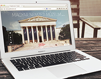 Webdesign concept for the Hungarian National Museum
