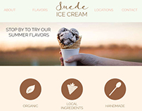 Web design for Suede Ice Cream