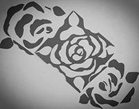 Notan - Asymmetrical Rose Design