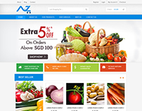 Grocery E commerce - site