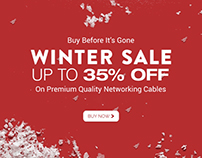 Animated Email Template Design for Winter Sale.