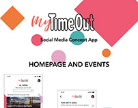 My Time Out Social Media Concept App