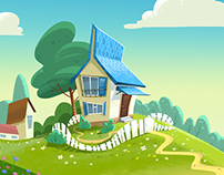 """animated background for the project """"Pchelografia"""""""
