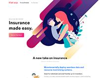 Finance, Insurance & Marketing Landing Page Template