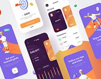 Mobile bank app design