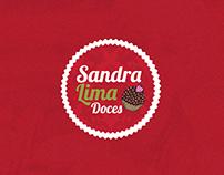 Site básico, Logo e fanpage - Sandra Lima Doces