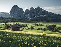 Mountain Huts and Churches in the Dolomites - Italy