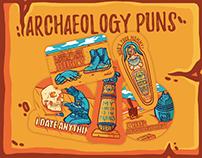 Archaeology Puns Sticker Set