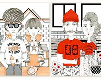 Converse Tee Illustration