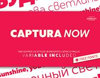 Captura Now - Geometric Sans Serif with Variable Font