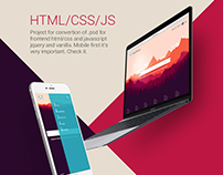 Psd for HTML Mobile Clean Design