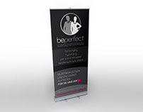 Grafikdesign / Roll-Up Display beperfect modestyling