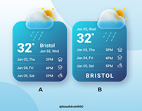 Weather Popup design (What is your answer?)