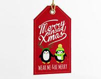 Christmas Hangtags + Postcard