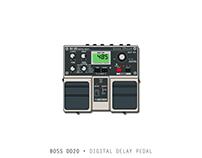 Boss DD20 •Digital Delay Pedal
