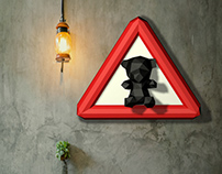 Make your own Teddy bear crossing sign