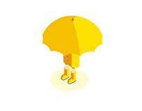 Raining!