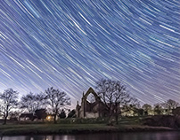 Bolton Abbey at night