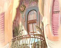 Havana travel sketch