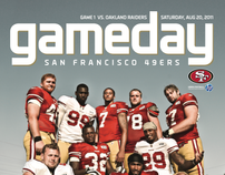 49ERS 2011 GAMEDAY MAG COVERS