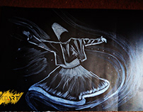 Sufism Art on White Charcoal Black Canson | SyedArt