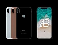 Premium iPhone 8 Front & Back View Mockup