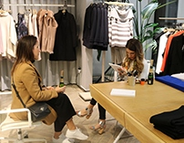 Live Drawing - Reiss Winter Shopping Event, London