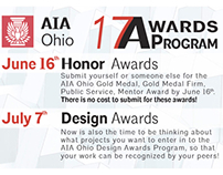 AIA Ohio Awards Program Postcard