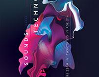 Techno Sounds Flyer