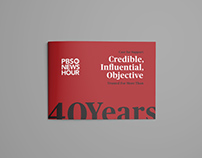 PBS NewsHour 2018 - 40 Years Flyer