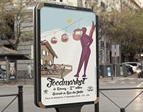 Affiche, flyer du foormarket de Brunoy d'hiver