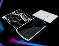 """AVA"" concept phone with bluetooth touchpad"