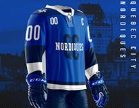 Quebec City Nordiques Jersey Concept