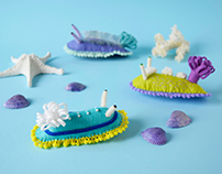 Sea Slug Brooches / Wall Decor