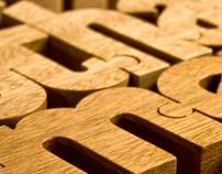 Nuzzles® - Wooden Typographic Puzzles