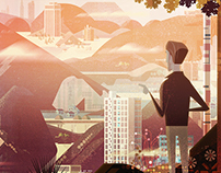 James Gilleard - Website Headers 'Cobbleweb'