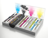 Swatch Artist Collection Displays