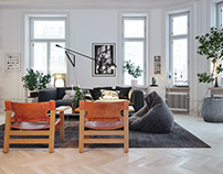 Apartment in Stockholm. Render by reference