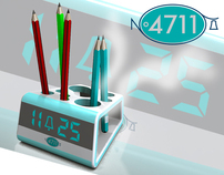Desk alarm clock_merchandising for 4711 Cologne Wasser.