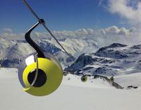 The ski lift cabin