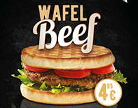 Hamburger Wafel-beef