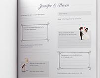 Eingebundenes Hochzeitsformular
