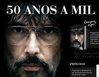 """Hotsite para o livro """"50 anos a mil"""", da Ediouro"""