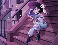 Teenage Witch. Character and Background design.