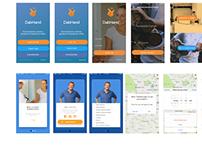Dabhand App Initial Screens