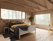 Bedroom of Holiday House Vindö by Max Holst / Rework